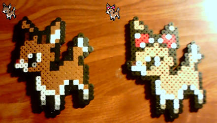 Perlers: Rudolph and Clarice by Superstrider