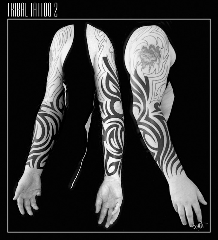 Tribal Tattoo BW2