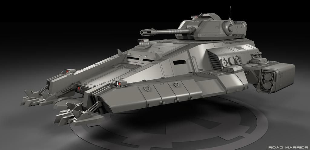 Imperial Repulsorlift Tank WIP by RoadWarriorZ44