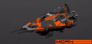 MCRN Orbital Patrol Boat wip 1