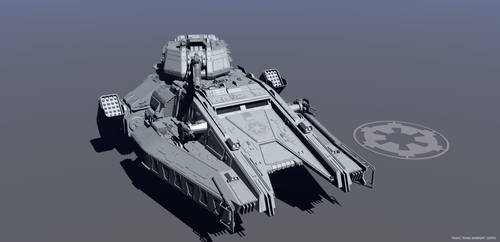 Imperial Hover Tank Final Stage 3 by RoadWarriorZ44