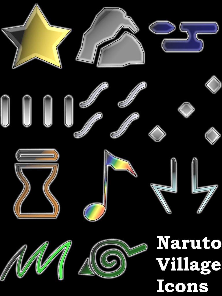 Naruto Villages Icons By Sireasis On Deviantart