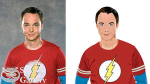 Sheldon Cooper redraw via RealWorld Paint