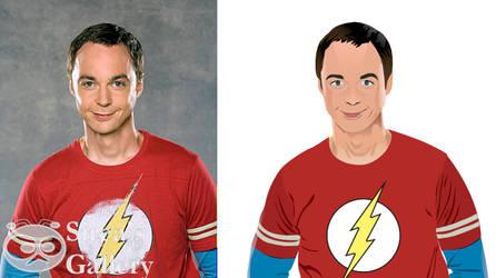 Sheldon Cooper redraw via RealWorld Paint