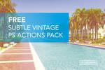 Free Subtle Vintage Photoshop Actions Pack