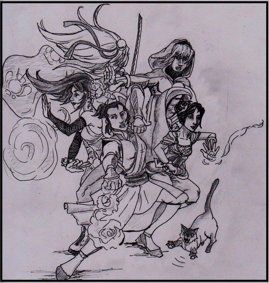 Groupe pour le RP Avatar by Neferlange