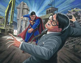 Evil Superman vs. Clark Kent by Habjan81