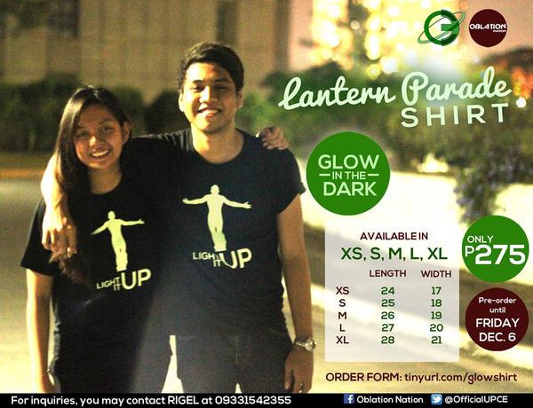Lantern Parade Shirt- Glow in the Dark by matsumotoyukiko