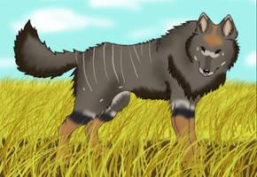 Nyala-Patterned Wolf by caliwings