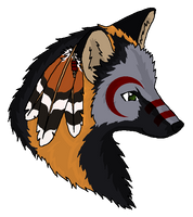 Native American Cross Fox by caliwings