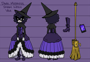 Steam Witch Vee Character Sheet by Nami-Tsuki