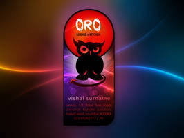Oro Lounge Business Card front by Javagreeen
