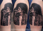 Michael Jackson Tattoo by Sunny Bhanushali