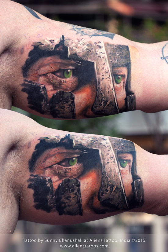 Spartan Warrior Tattoo by Javagreeen