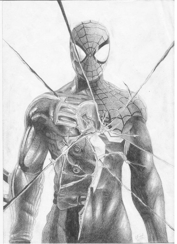 How To Draw Spiderman Noir Wwwimgarcadecom Online
