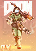 Doomed Space Marine by FrancoTieppo