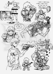 DOOM LADY doodles - Part 2 by FrancoTieppo