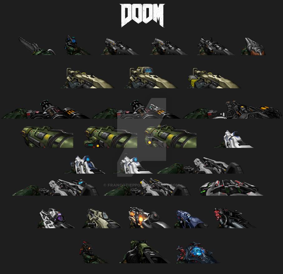 Doom 2016 Weapon Sprites by FrancoTieppo on DeviantArt