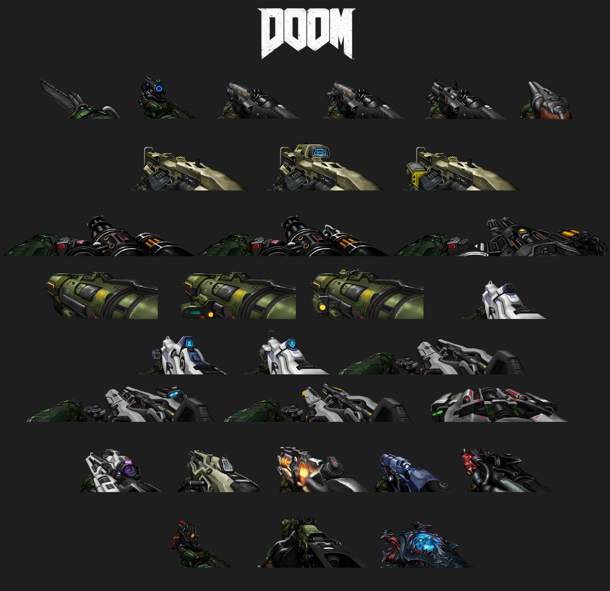 Doom 2016 Weapon Sprites