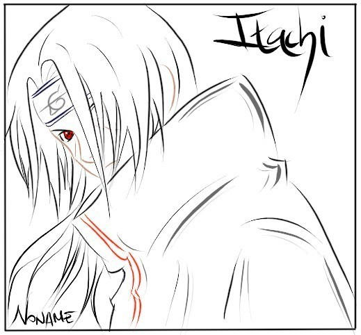 Naruto Lineart - Itachi by N-nOname on DeviantArt