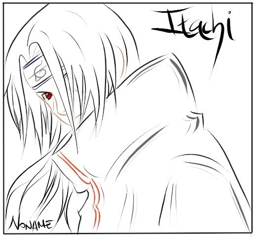 Naruto Lineart Itachi By N Noname On Deviantart