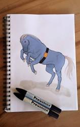 Machamp/Horse by freespirit115