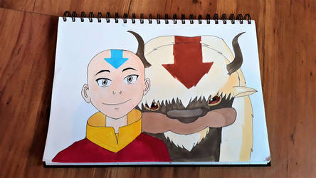 Aang and Appa by freespirit115