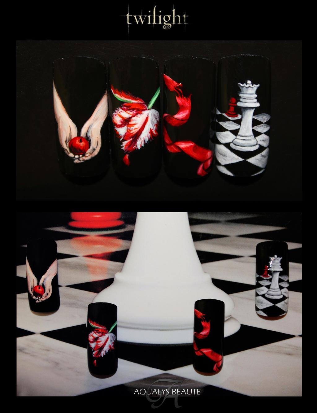 Twilight nails by shangarra on deviantart twilight nails by shangarra twilight nails by shangarra prinsesfo Gallery
