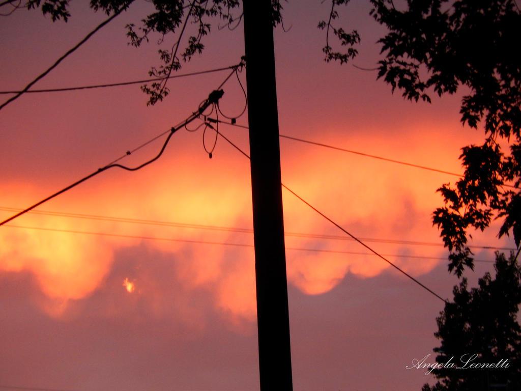 Burning Night Sky by AngelaLeonetti