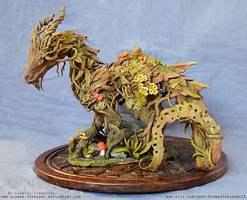 Ancient Forest Dragon- Sculpture by HiddenTreasury