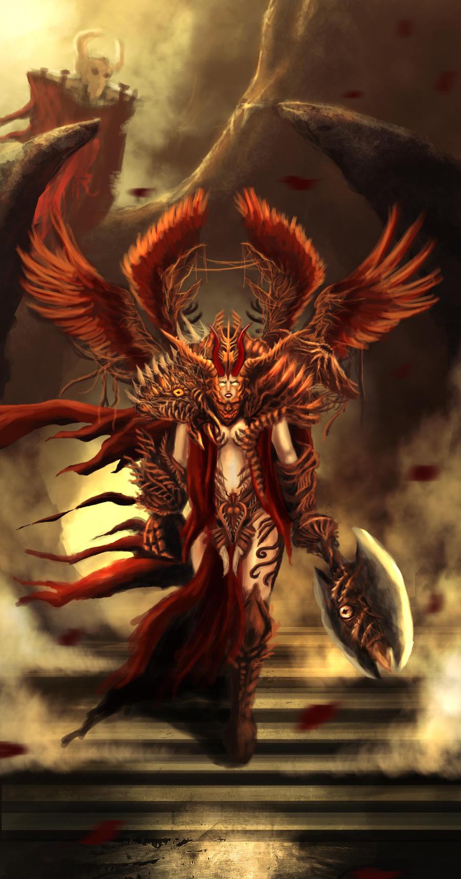 Red Phoenix by elartwyne