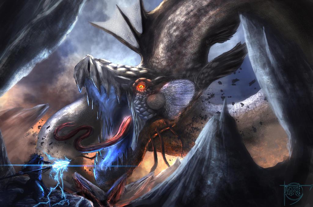 Bakunawa battle by elartwyne