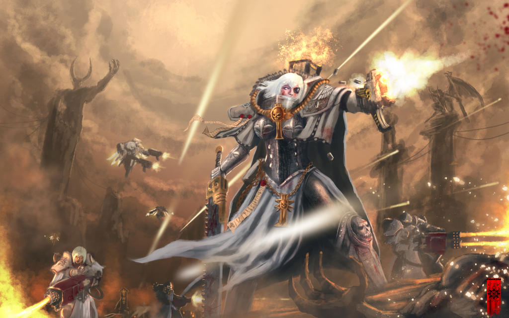 [W40K] Collections d'images diverses - Volume 2 Sister_of_battle_by_elartwyne-d5sm4z9