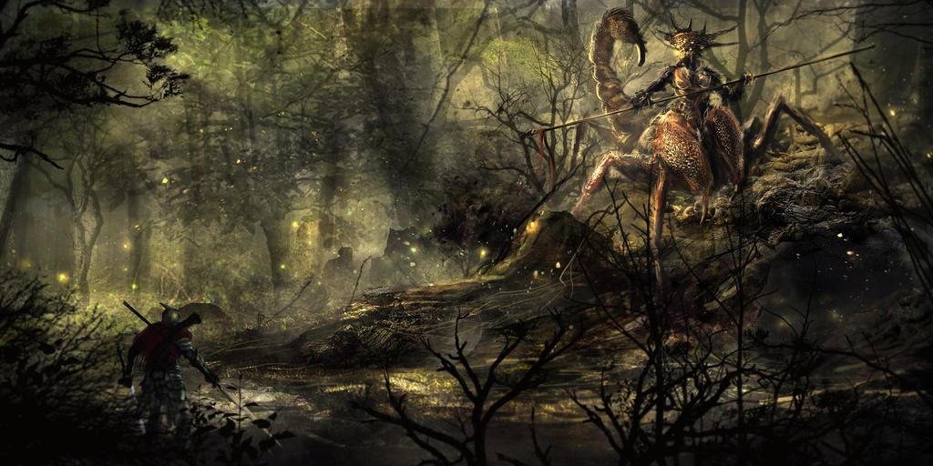 Scorpion Queen by elartwyne