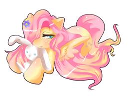 Cute Fluttershy by CrownOfSpadez