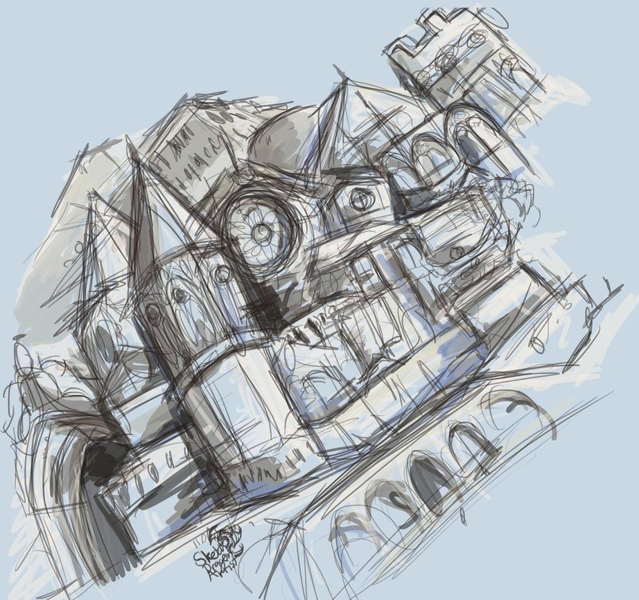 random building sketches by sketchdragonartist on deviantart