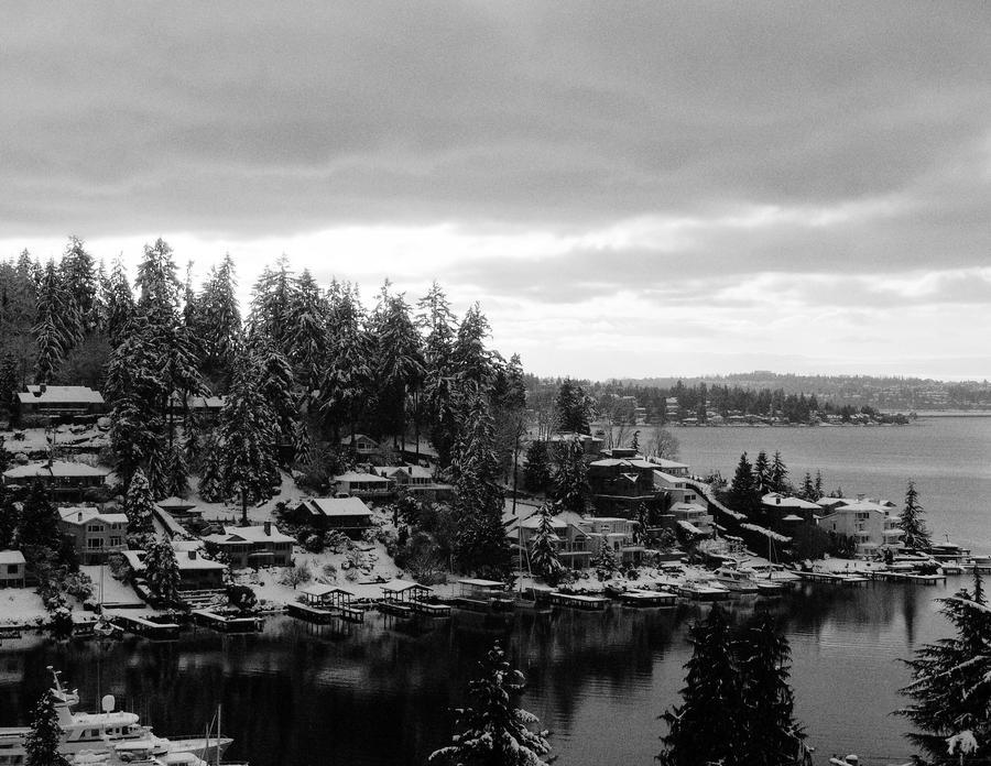 Winter on lake Washington by IrfanDesign