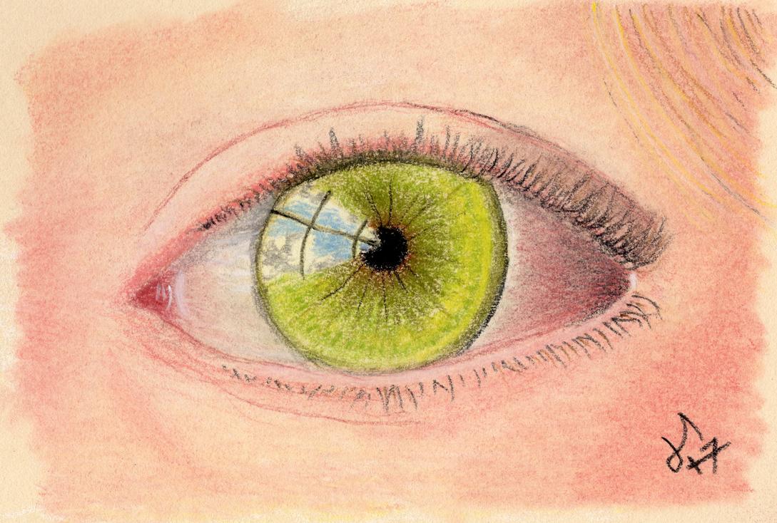 Eye Study 002 - pastel pencil by jerryhat