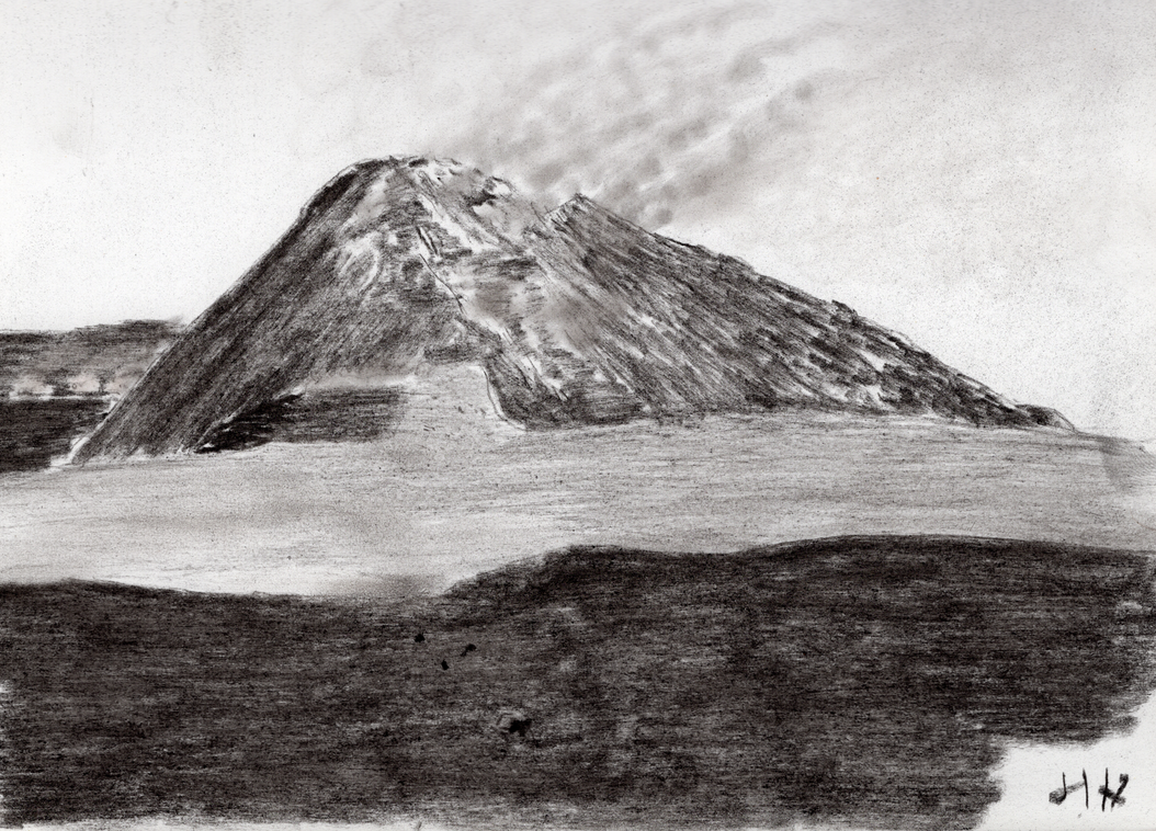 Etna - charcoal by jerryhat
