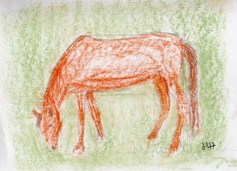 animals - Horse 005 - pastels
