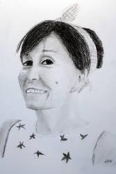 portraits - Karen - charcoal
