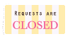 Requests are closed stamp by Memento-palace