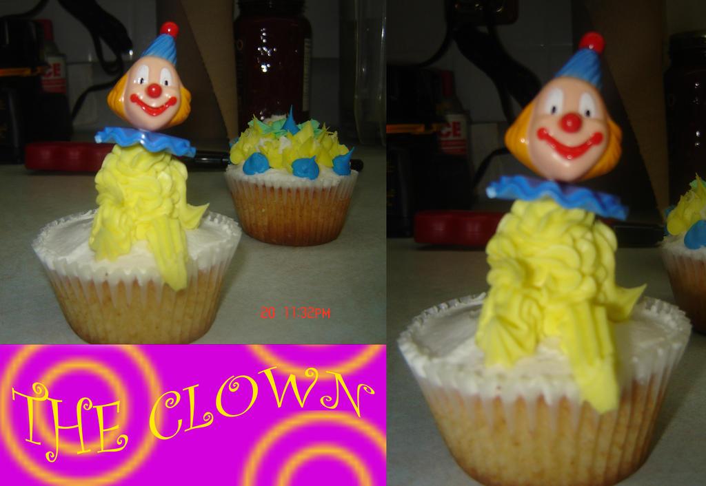 Clown Cupcake Cake
