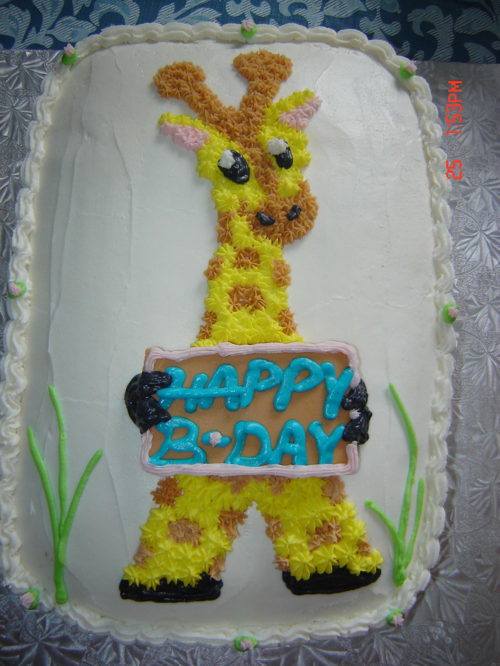 Video 3D GIRAFFE CAKE PANS 756