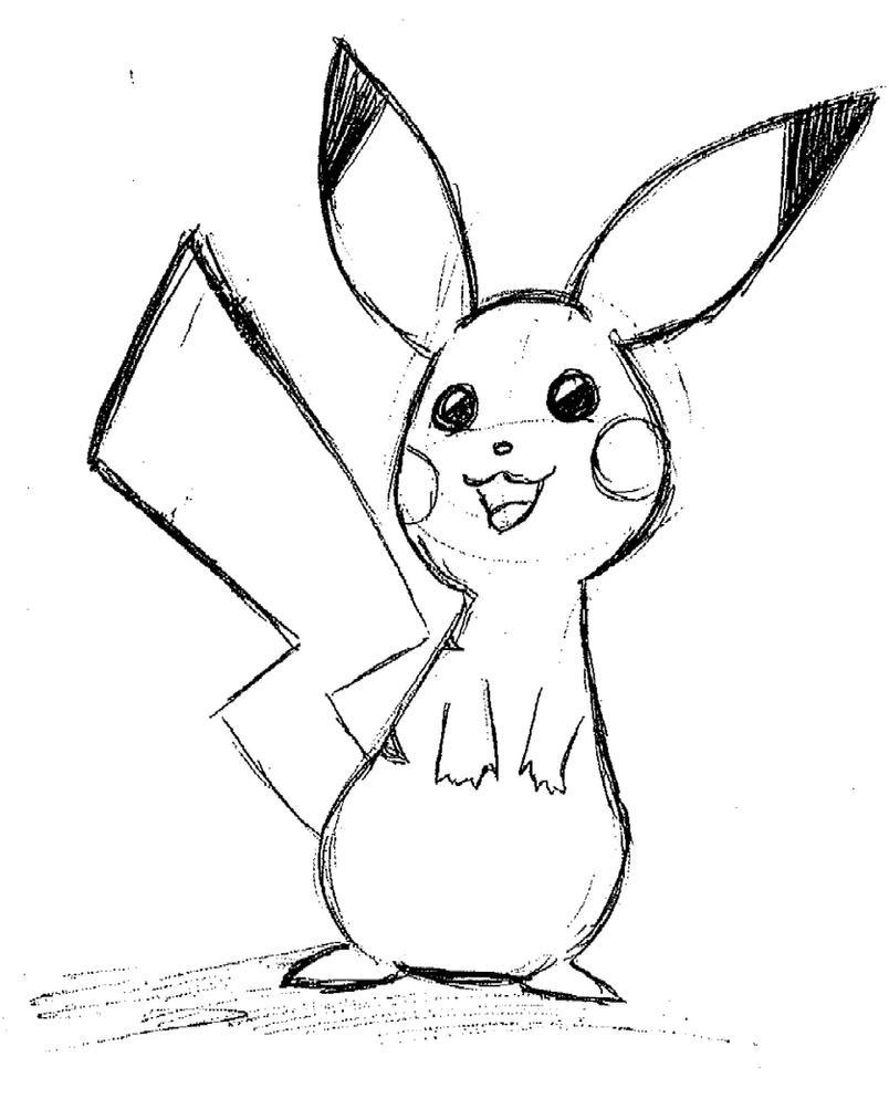 Pikachu crying drawing - photo#26