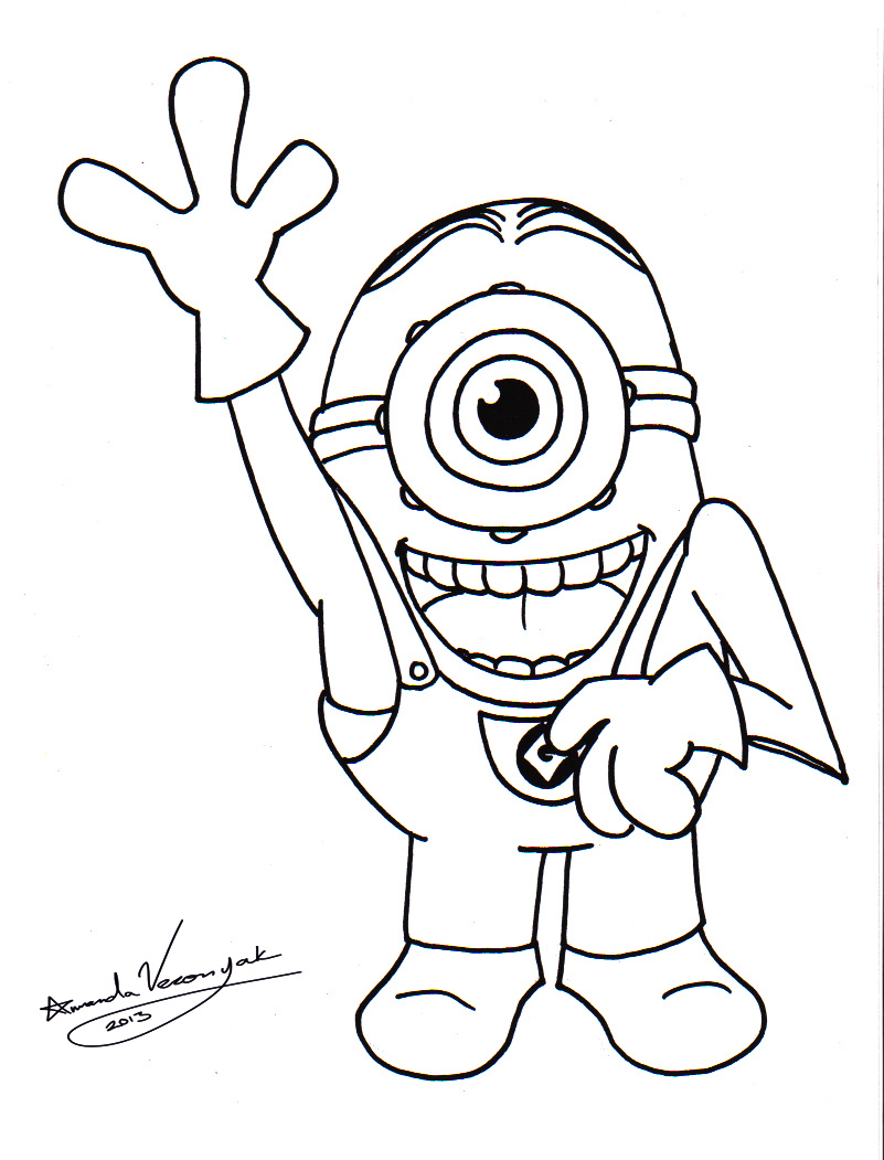 Image Result For Free Minion Coloring