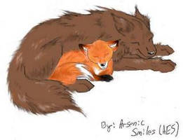 Wolf and Fox by Jesus-Chex