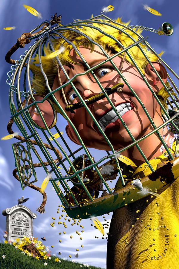 Boy with birdcage by boblea