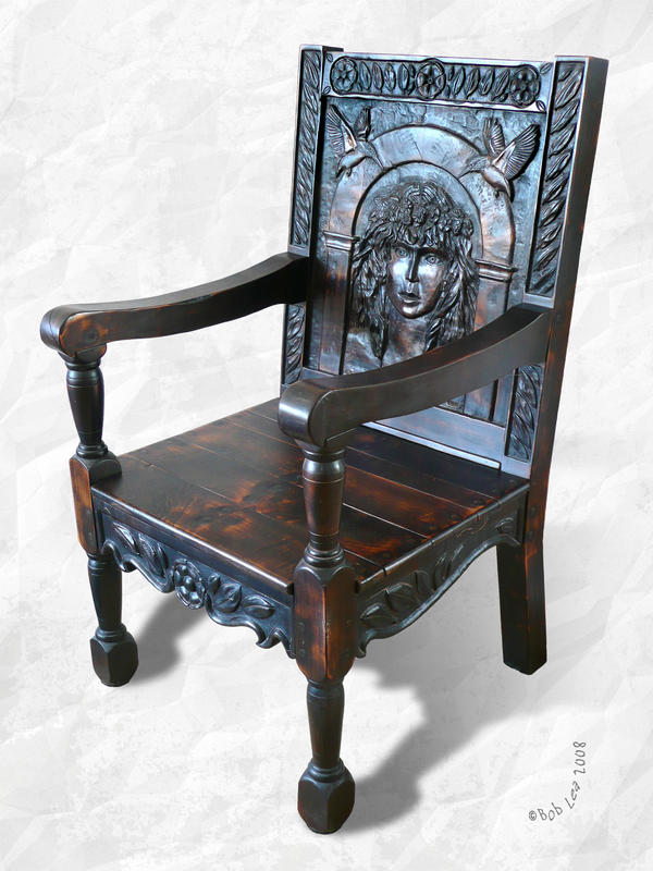 Mye Goode Olde Woode Chaire by boblea
