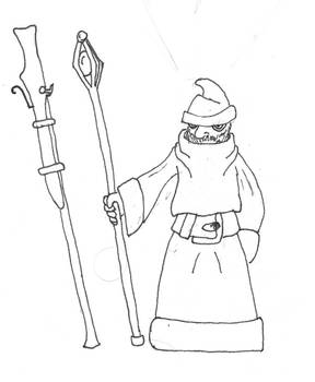 Grouchy gnome wizard who deserted the army